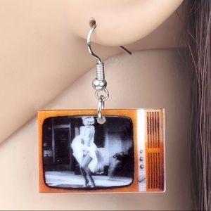 Marilyn Monroe TV Acrylic Earrings